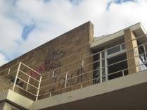Skyline and graffiti