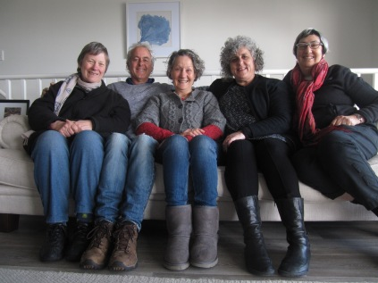 The Trustees - me, Laurie, Maggie, Angela and Cathy, taken with Laurie's camera on a timer, Maggie pressing the button
