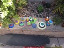 Plastic lid art