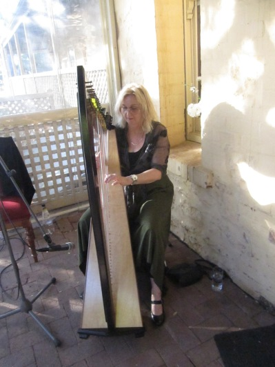 The harpist who played for us after our performance