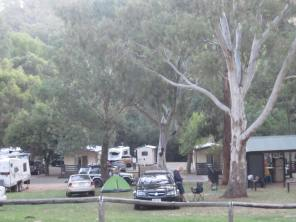 Caravans in the park