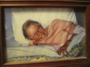 Mum in bedjacket when she was ill