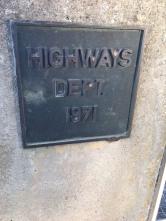 The plaque on the bridge