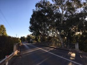 Looking west across the bridge