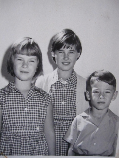 Me, sister Jane and brother Richard taken in 1968, the year Maxine started at the shop