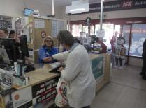 Maxine serving her 'last customer'