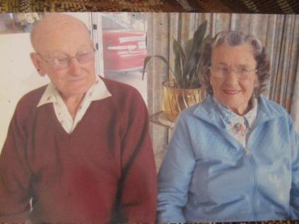 Dad and Auntie Joan, taken I think on Auhnt's 90th birthday