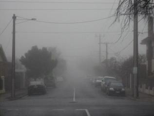 Foggy morning outside my place