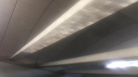Light on water reflected on the underpass