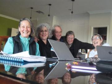 Trustees in Lyndoch last week - Maggie, Ang, Laurie, me and Cathy